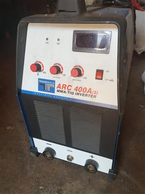 ARC 400A(S) MMA/TIG INVERTER WELDING MACHINE WITH CABLES FOR SALE