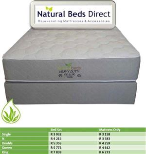 KING SIZE HEAVY DUTY MATTRESSES AND BASE SETS