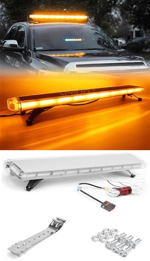 Orange / Amber / Yellow Flash Strobe Warning Emergency COB LED Light Bars. Brand New Units.