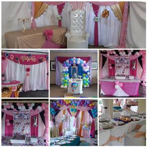 Decor, catering and flower arrangements