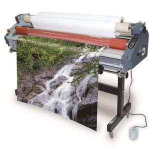 Large format hot/cold electric laminator