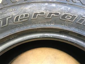 WANTED 235/70R16 235 70 16 BF Goodrich All-terrain Tyres