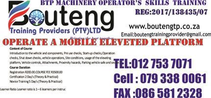 BOUTENG TRAINING PROVIDERS 0793380061