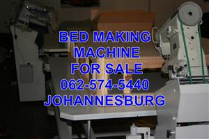 Mattress and base sewing machine