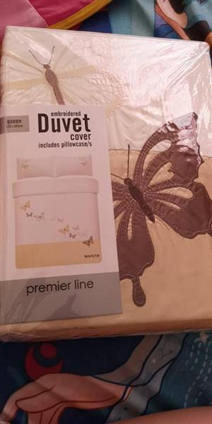 EMBROIDED BUTTERFLY DUVET COVER FOR SALE