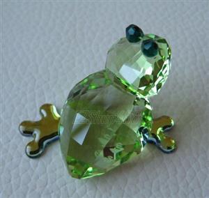 Swarovski Figurine Series Lovlots Green Frog Romeo