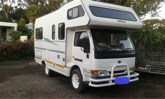 2000 Nissan Cabstar 2.5 diesel motorhome with 130 000km on the clock.