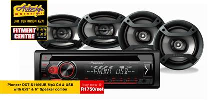 Pioneer DXT-S1169UB Mp3 Cd Front Loader with 6-9 and 6 INCH  Speaker combo  Autostyle Motorsport