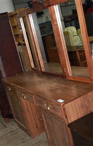S034534B Brown dressing table #Rosettenvillepawnshop
