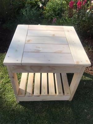 Solid Wood Pine Side Table