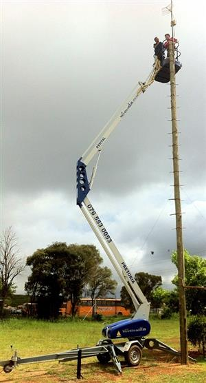 VerticalZA CHERRY PICKER Nifty 140HPE -14m, Portable Trailer Mounted Manlift