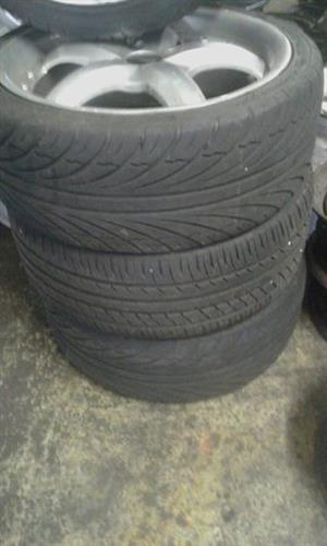 17inch Mac with tyre suitable for Gulf Nissan corsa Is 4 hole