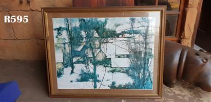 Framed M de Gallard Print (970x770)