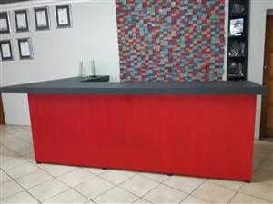 Bar Counter Farmhouse series 3000 L shape - Two Tone Chalk paint